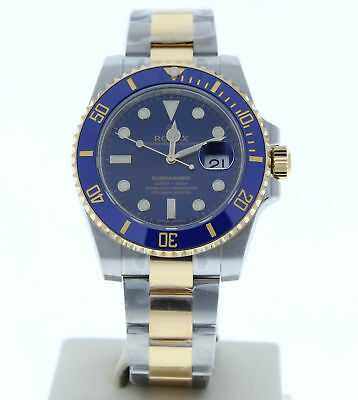 Rolex 116613 LB 40mm Submariner Watch Blue Dial Ceramic Bezel Unused 2018 Model