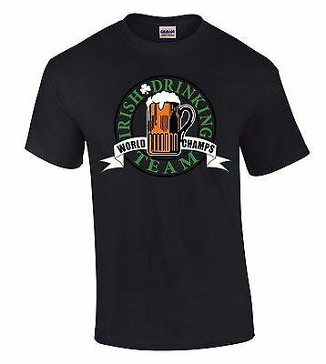 Irish Drinking Team T-SHIRT Beer World Champs St Patricks Day Drink Funny Shirt