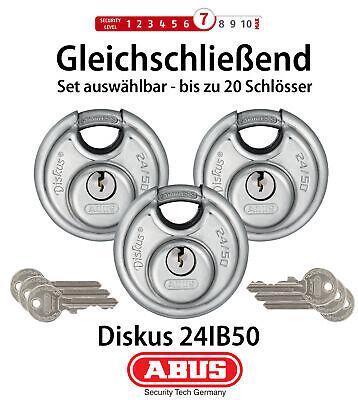 ABUS Diskus Vorhängeschloss 24IB/50 gleichschließend Diskusschloss Schloss 50mm