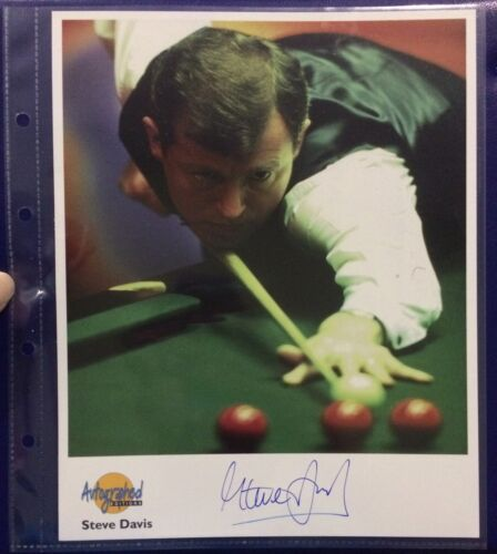 Signed Steve Davis Snooker 6x World Champion Westminster Autographed Editions