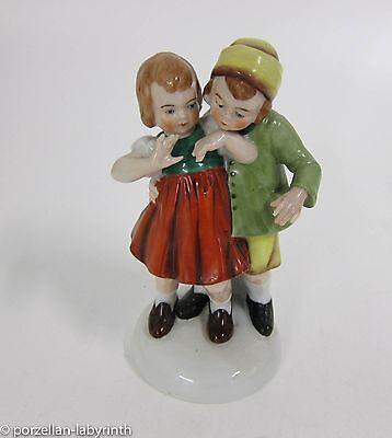 Altes Figuren Paar Junge und Mädchen Porzellan Figur