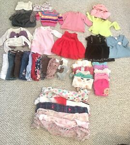 6-12M Baby Girl Winter Lot (40+ items)