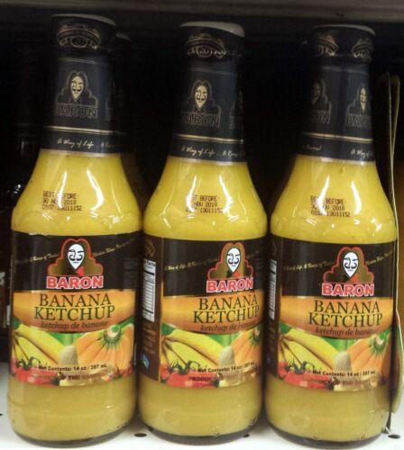 Baron Banana Ketchup -14 Oz Each (3-pack)