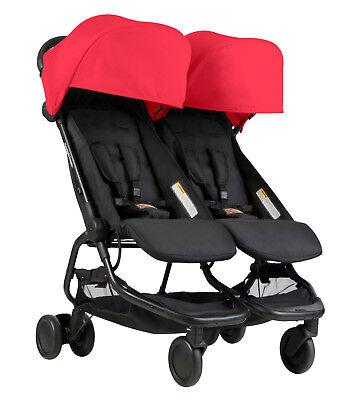 nano duo double stroller in ruby brand