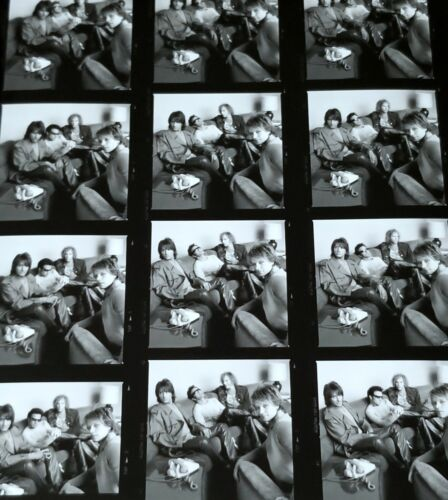 "JON BON JOVI 8.5x11"" BLACK & WHITE CONTACT SHEET PHOTO BW PROOF METAL ROCK STARS"