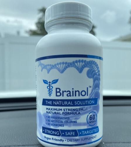 New & Seal Brainol - Brain Boosting Dietary Supplement 60 Capsules Freeshipping