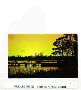 Postcard ~ Sunset at Oulton Broad new Unused