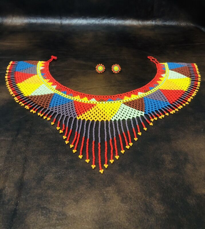 mexican beaded necklace/ Handmade Beaded Necklace