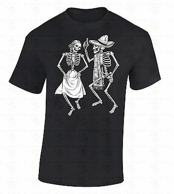 Skeletons Dancing T-SHIRT Day Of Dead Dia De Los Muertos Halloween Party Shirt - Halloween Party Day