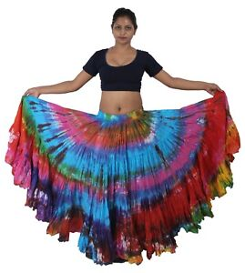 a091cf13bad3 Wevez 25 yard multicolor died Tribal Fusion Belly Dance skirt