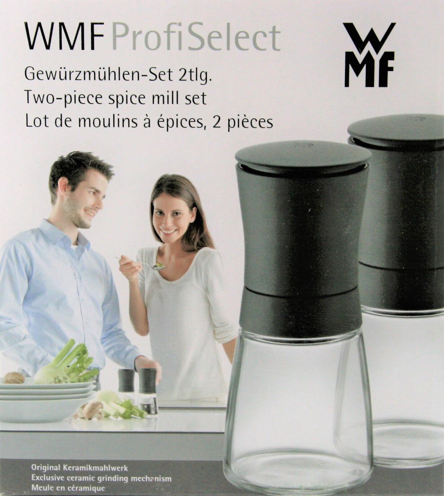 WMF 2 tlg.ProfiSelect Gewürzmühlen Set Salz-/Pfeffermühle Keramikmahlwerk