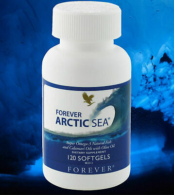 New FOREVER ARCTIC SEA (120 Softgels) for lower Cholesterol, HALAL  Exp. 2022