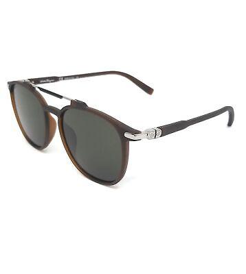 Salvatore Ferragamo Sunglasses SF893S 202 Matte Brown Rectangle Men 54x17x145