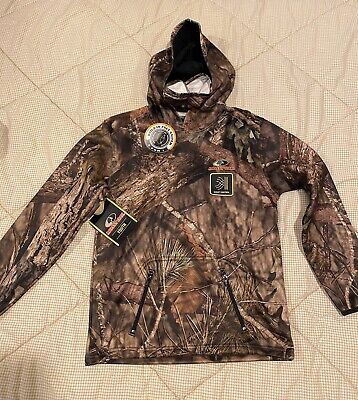 Realtree 3XL Gray Camo Performance Tech Hoodie Gaiter Scent Reduction Hoodie