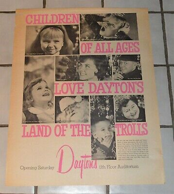 Vintage Daytons Department Store Christmas Land of the Trolls Advertising (The Landing Stores)