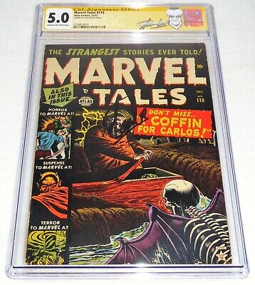 Marvel Tales #110 CGC SS 5 Signature Autograph STAN LEE Story Atlas Comics 12/52