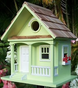 Key Lime Cottage Style Novelty Bird House / Feeder / Nest Box