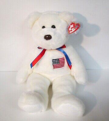 Beanie Buddies Patriotic American Flag White 14
