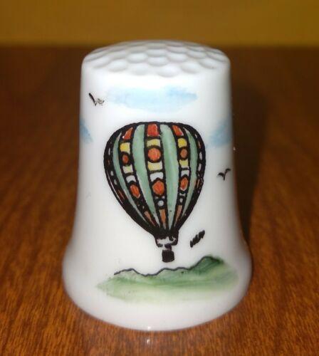 Hot Air Balloon  Collectible Thimble ~ White Iridescent