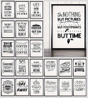 100 Motivational / Inspirational / Funny Typography Quote Posters Prints A4 - Inspirational Funny Posters