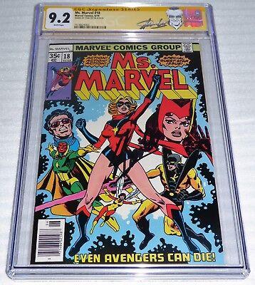 Ms. Marvel #18 CGC SS 9.2 Signature Autograph STAN LEE 1st Mystique Avengers POW