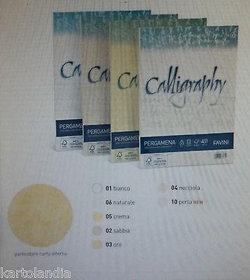 Carta CALLIGRAPHY Pergamena 90 gr NATURALE  06- 21 X 29,7 F.to A 4 50  Fogli