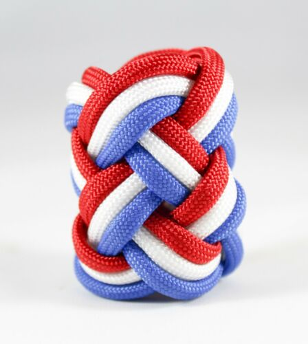 Paracord Neckerchief Woggle Slide Cub Boy Eagle Scout Turks Head Knot Handmade