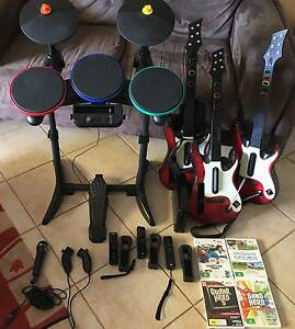 Nintendo wii bundle - band hero, 3 guitars, drums, 4 games + more Rostrevor Campbelltown Area Preview