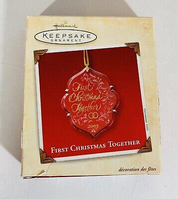 Hallmark Keepsake Ornament 2003 Our First Christmas Together Acrylic Card ()