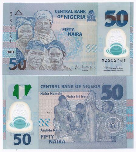 Nigeria P-40b 50 Naira Year 2011 Uncirculated Polymer Banknote Africa