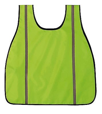 Hi Visibility Neon Green Oxford Safety Vest Reflective Lightweight Breathable