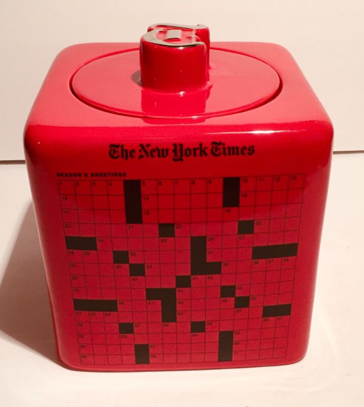 The New York Times Crossword Puzzle Cookie Jar - NYT Ceramic Collectable