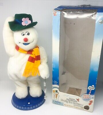 Gemmy Singing Spinning Snowflake Frosty The Snowman With Box *READ* FREE SHIP!