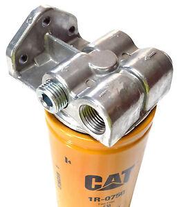duramax 6 6l lb7 lly lbz diesel fuel filter remote mount base for cat 1r 0749 | ebay duramax cat fuel filter