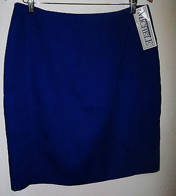 NEW WITH TAGS LADIES MICHELLE NEW YORK SKIRT FROM JCPENNEY SIZE 16 BLUE $28 (Jcpenney Skirts)