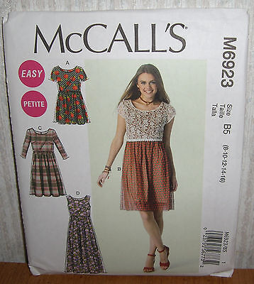 Womens/Misses & Petite Tunic & Dresses Sewing Pattern/McCall's M6923/SZ 8-16/N