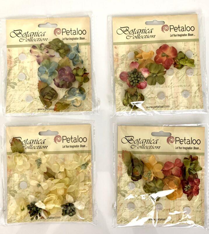 Petaloo Botanica Fabric Flowers Crafts Scrapbook Embellishments Open Packages