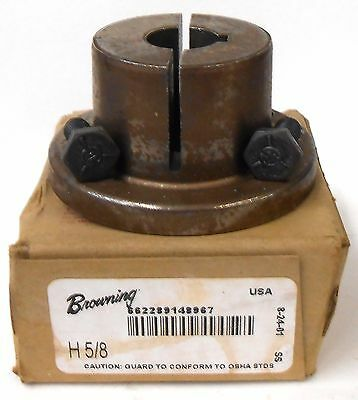 "BROWNING SPLIT TAPER BUSHING H 5/8, 5/8"" BORE, FLANGE OD 2 1/2"""