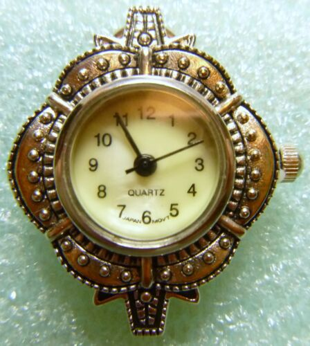 Vintage Looking Silver Tone Pendant Hanging Watch Face for Jewelry Making