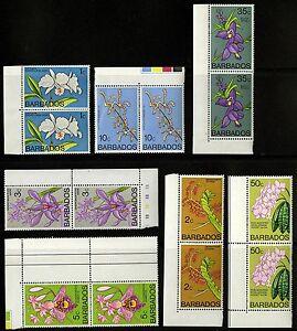 Barbados-1974-77-Scott-396-398-400-402-406-407-MNH-Part-Set