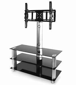 Glossy-TV-Stand-With-Swivel-Bracket-Fits-Any-32-To-50