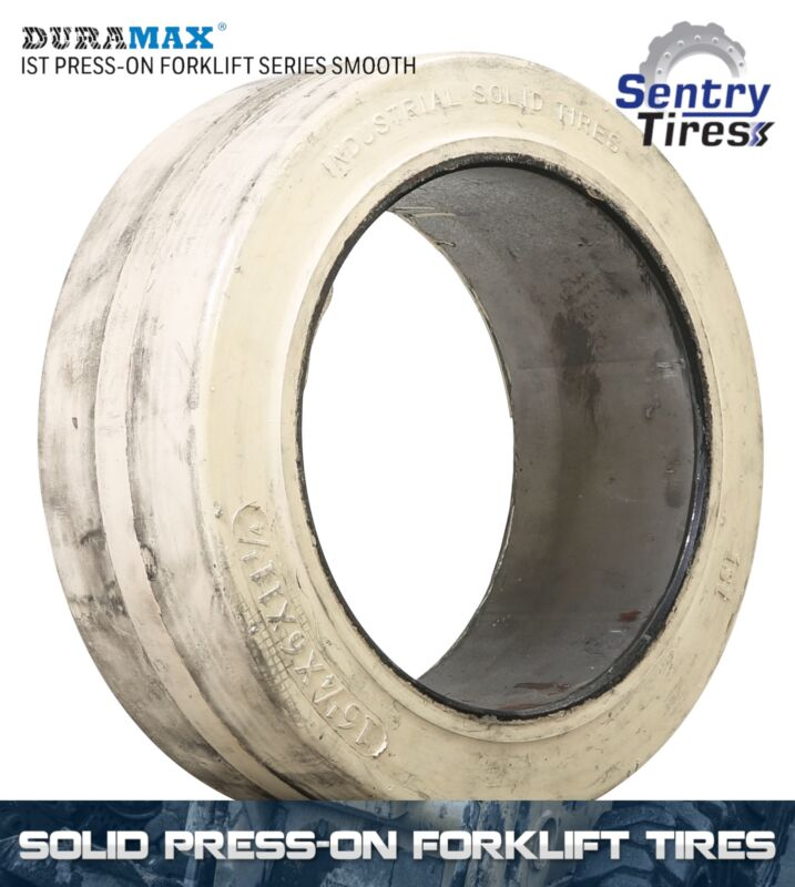 16.25x6x11.25  Smooth Non Marking Solid Forklift Tire (2 Tires) 16 1/4x6x11 1/4
