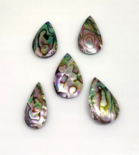 Dazzling Paua Abalone Shell Pear Cab Designer For Jewelry Making Gemstone Lot