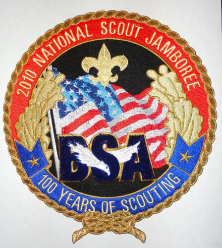 2010 National Jamboree 100 Years of Scouting Jacket Patch Boy Scouts of America