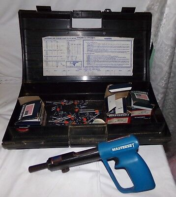 Masterset System 3 Low Velocity Powder Actuated Tool w/ Case w/ Nails Gun