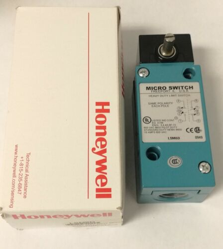 NOS HONEYWELL- MICROSWITCH - LSM6D - NEW FREE SHIPPING!!