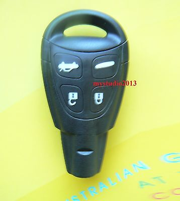 4 buttons Remote Key Shell Case for SAAB 93 95 9-3 9-5 smart key with blade