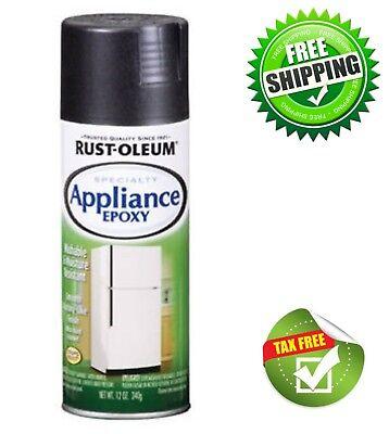 Appliance Paint Black (Rust-Oleum Specialty Appliance Epoxy Spray Paint Aerosol 12 Oz, Black Enamel )