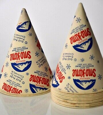 Vintage 12x Sno-kone Snow Cone Genuine Cups Gold Medal Products M238