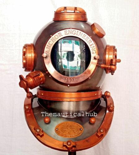 """18 """"Inch Diving Helmet Anchor Engineering Navy Deep Sea Helmet Antique Replica"""